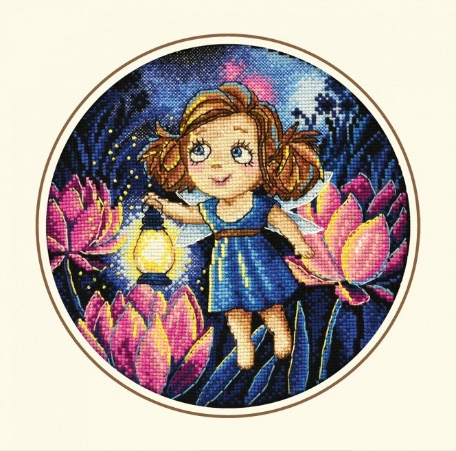 "873-Овен ""Алиса и светлячки"" 20х20 см"
