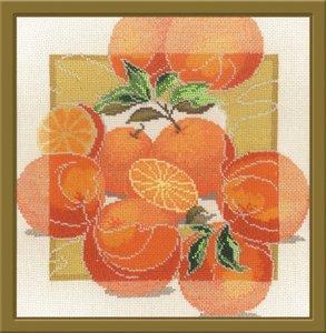 """460-Овен """"Дары садов. Апельсины"""" 28х28 см"""
