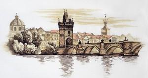 """884-Овен """"Карлов мост"""" 40х20 см"""