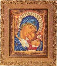 """В-181-Кроше """"Богородица Умиление 2"""" 18х22 см"""