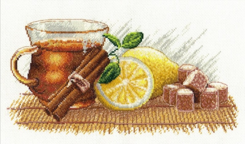 """900-Овен """"Зимний чай"""" 30х15 см"""