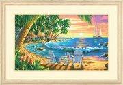 "73-91444-Dimensions ""Закат на пляже"" 51х31 см"