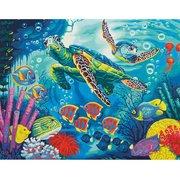 """73-91454-Dimensions """"Морские черепахи"""" 36х28см"""