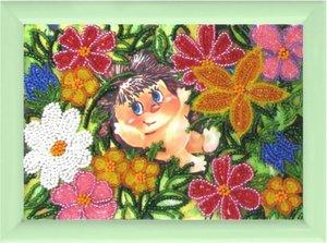 "932-Butterfly ""Ёжик в цветах"" 17х12 см"