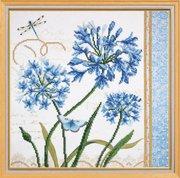 """РТ-001-Овен """"Голубые цветы"""" 30х30 см"""