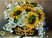"""A-017-Вышиваем бисером """"Вальс цветов"""" 18х22,5 см"""