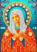 "A-018-Вышиваем бисером ""Богородица ""Умиление"" 19,5х26,5 см"