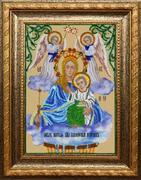 """A-025-Вышиваем бисером """"Икона Богородицы """"Живоносный Источник"""" 19х26 см"""