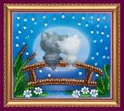"""АМА-090-Абрис Арт """"Лунные коты"""" 8х7 см"""