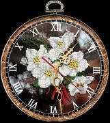 """B-031-Вышиваем бисером """"Часы """"Ромашки"""" d 18 см"""