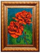 """B-095-Вышиваем бисером """"Красные розы"""" 12х19 см"""