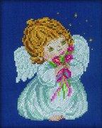 """С-038-РТО """"Ангел с цветами"""" 13x16 см"""