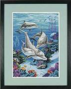 "03830-Dimensions ""Дельфинье царство"" 25х36 см"