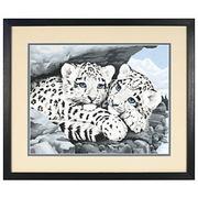 """DMS-91079-Dimensions """"Снежные леопарды"""" 36х28 см"""