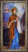 """Р-077-Картины Бисером """"Богородица """"Боголюбская"""" 20х39 см"""