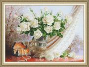"""РТ099-Золотое Руно """"Белые розы"""" 36х50 см"""
