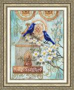 """РТ027-Золотое Руно """"Синие птицы счастья"""" 26,5х34 см"""