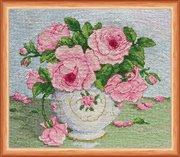 """АН-014-Абрис Арт """"Розовые цветы"""" 20,5х16,5 см"""