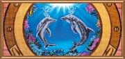 """АВ-189-Абрис Арт """"Дельфины"""" 66х30 см"""