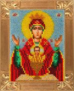 """В-738-Вертоградъ """"Пресвятая Богородица """"Неупиваемая Чаша"""" 10х13 см"""