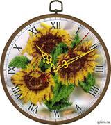 """B-086-Вышиваем бисером """"Часы """"Желтое настроение"""""""