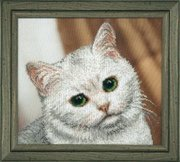 "Б-737-Чаривна мить ""Белый котик"" 26,5х23,5 см"