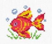 """10-25-Чудесная игла """"Волшебная рыбка""""  9х8 см"""