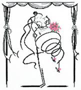 """83-01-Чудесная игла """"Свадебный вальс"""" 30х35 см"""