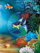 """СH815-РТО """"Подводный мир. Морская рыбка""""  d 10 см"""