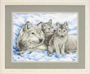 """13130-Dimensions """"Волчица и волчата"""" 41х30 см"""