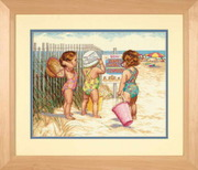 "35216-Dimensions ""Дети на пляже"" 36х28 см"