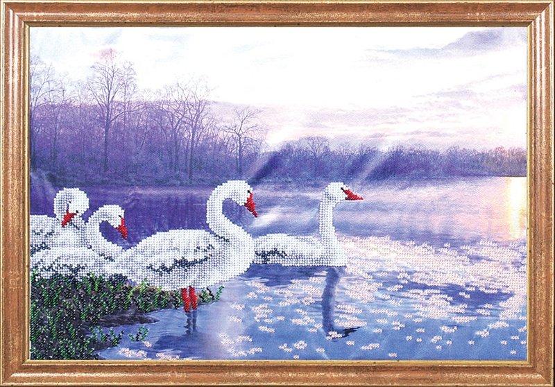 """КС-004-МК """"Лебеди на закате"""" 39х27 см"""