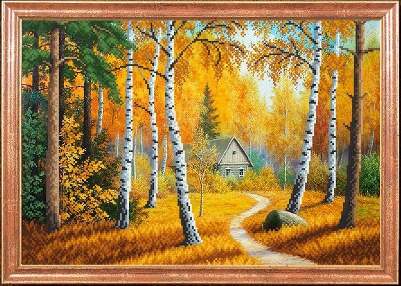 """КС-016-МК """"Домик в лесу"""" 39х27 см"""
