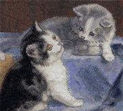 """8-036-Кларт """"Друзья-котята"""" 23,5х22 см"""