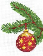 """8-039-Кларт """"Новогодний шарик со звездами"""" 11х14 см"""