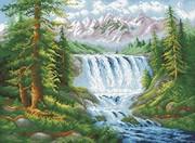 "М-407-Паутинка ""Лесной водопад"" 41х55 см"