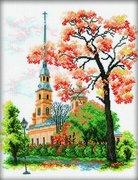 "М-135-РТО ""Петропавловский собор, Санкт-Петербург"" 28x36 см"