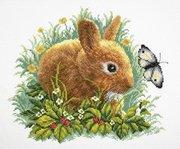 """М-323-РТО """"Кролик и бабочка"""" 35х30 см"""