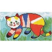 """М-533-РТО """"Я покрасила кота..."""" 21х12 см"""