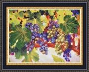 """Р-056-Картины Бисером """"Виноградные гроздья"""" 38x28см"""