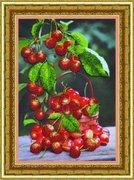 """Р-068-Картины Бисером """"Черешня"""" 26,5х18,5 см"""
