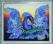 "Р-079-Картины Бисером ""Лебедушки"" 39,5х33 см"