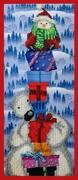 "Р-144-Картины Бисером ""Новогодняя пирамида"" 14х33 см"