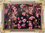 """Р-037-Картины Бисером """"Весенний сад"""" 19х41 см"""