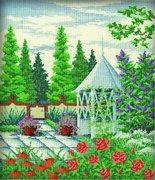 "R155-РТО ""Беседка в саду"" 25х30см"
