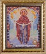 """28 БК Рамка со стеклом """"Богородица Покрова"""" 20,2х24,8 см"""