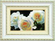 "РК-035ЧМ ""Белые розы"" 19,5х12 см"