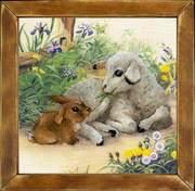 """РТ-0051-Риолис """"Ягненок и кролик"""" 30х30 см"""
