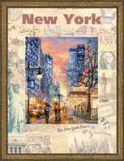 """РТ-0025-Риолис """"Города мира.Нью-Йорк"""" 30х40 см"""