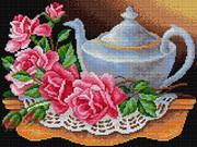 "V-21-ВБ ""Чайник с розами"" 30х40 см"
